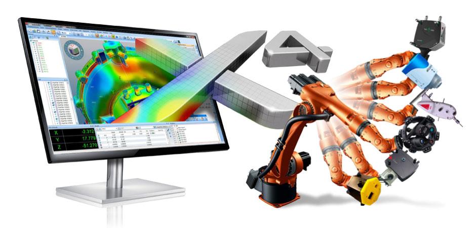 Robotkaros gyártósori ellenőrzés a Metrolog X4 i-Robot mérőszoftverrel